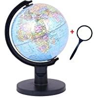 GeoKraft Educational Political 5 Inch Diameter Globe with Plastic Arc and Base