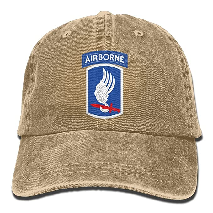 1f1880079f2 173rd Airborne Brigade Sky Soldiers Trend Printing Cowboy Hat Fashion Baseball  Cap For Men and Women Ash at Amazon Men s Clothing store