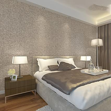 QYC Warm Bedroom Wallpaper Modern Simple Living Room TV Wall Plain Wall  Cloth Solid Gray 3D