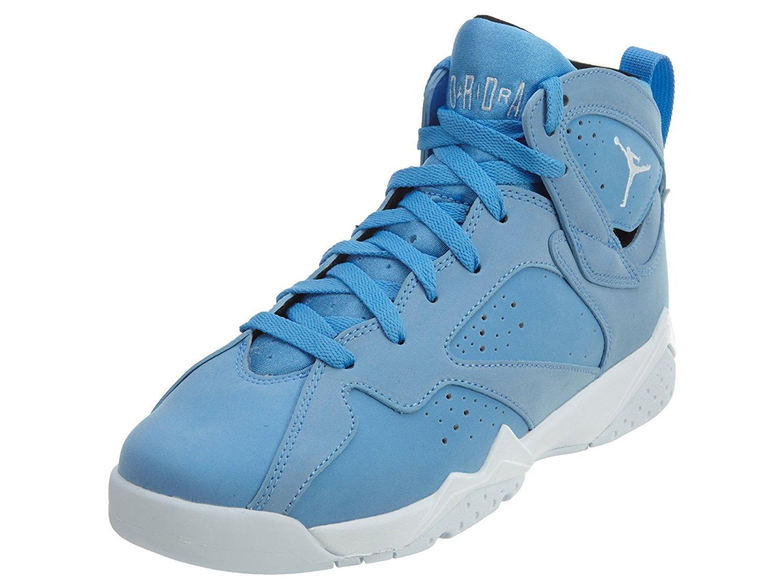 Jordan Kid's Air 7 Retro BG, UNIVERSITY BLUE/WHITE-WHITE, Youth Size 4 by Jordan