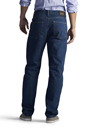 Lee para Hombre Regular Fit Straight Jean - Azul -: Amazon ...
