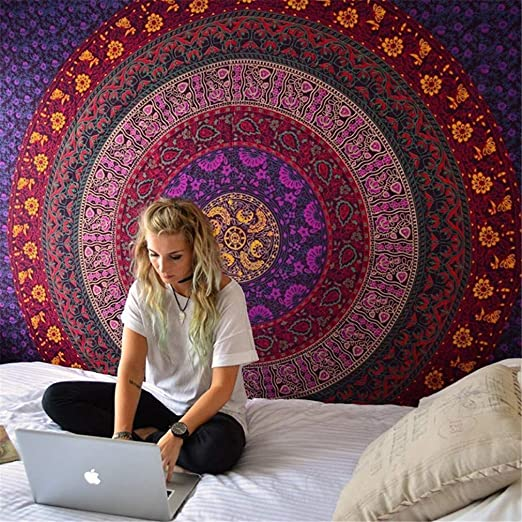 Amazon.com: SDAHY Mandala Tapestry Indian Elephant Tapestry Forest Bohemian Tapestry Wall Tapestry Wall Hanging Tapiz Pared Mandala Wall Hanging 8 ...