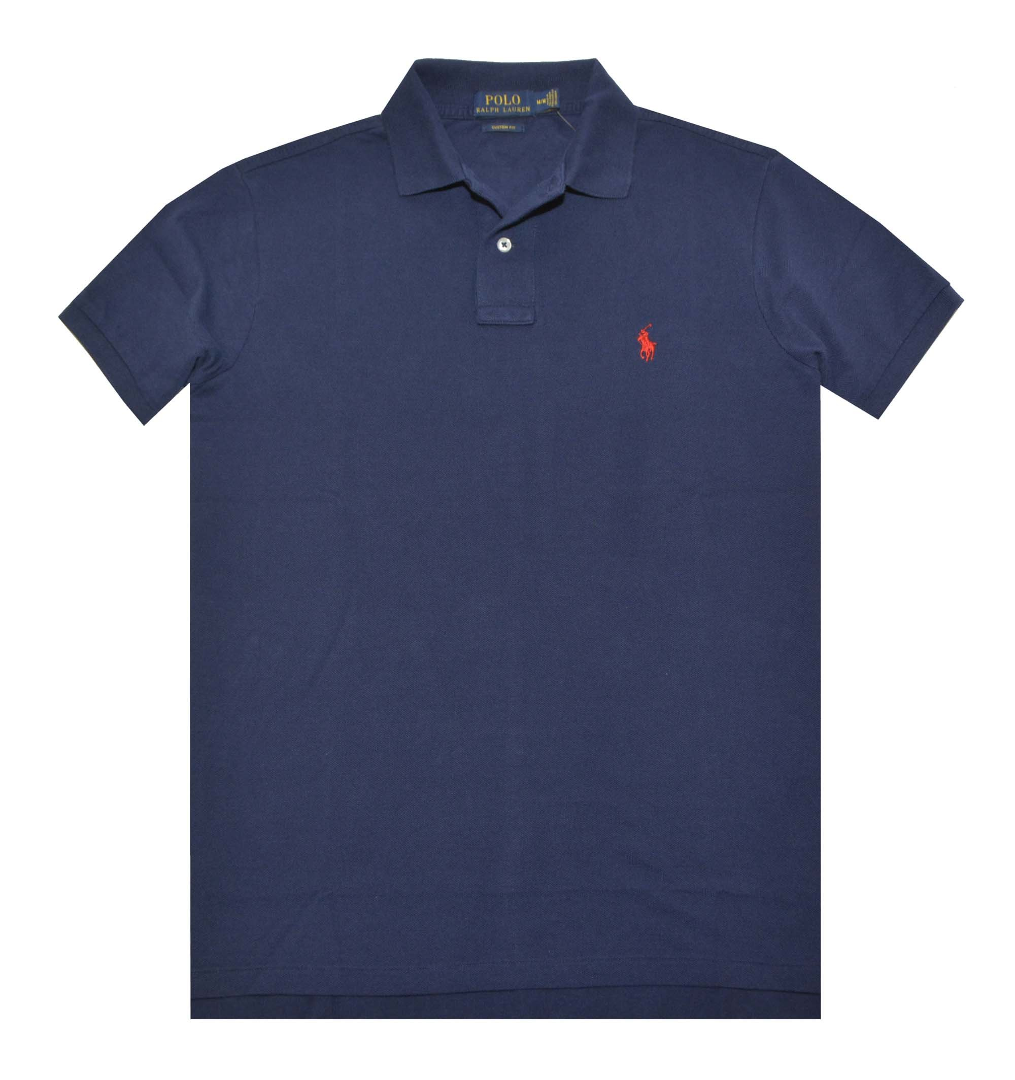 Polos Polo Ralph Lauren Classic Fit Mens Xl Heather Blue Cotton Mesh Polo Shirt For Fast Shipping Men's Clothing