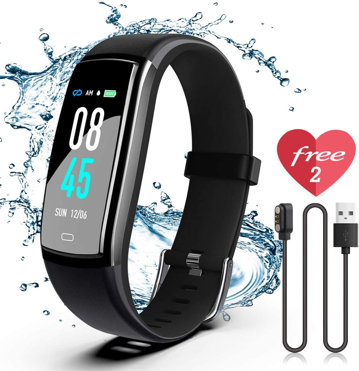 SIKADEER Fitness Tracker, Activity Tracker Watch with Blood Pressure Heart Rate Monitor