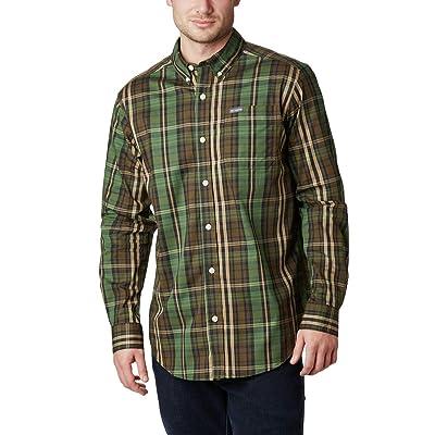 Columbia Men's Tall Size Rapid Rivers II Long Sleeve Shirt, Green Multi Plaid, 4XT: Clothing