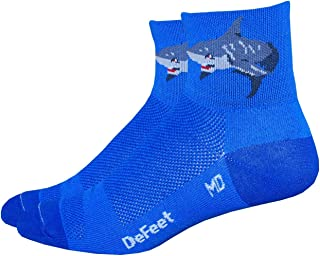 product image for DeFeet AirEator 2.5in Attack! Cycling/Running Socks - AIRATT (L)
