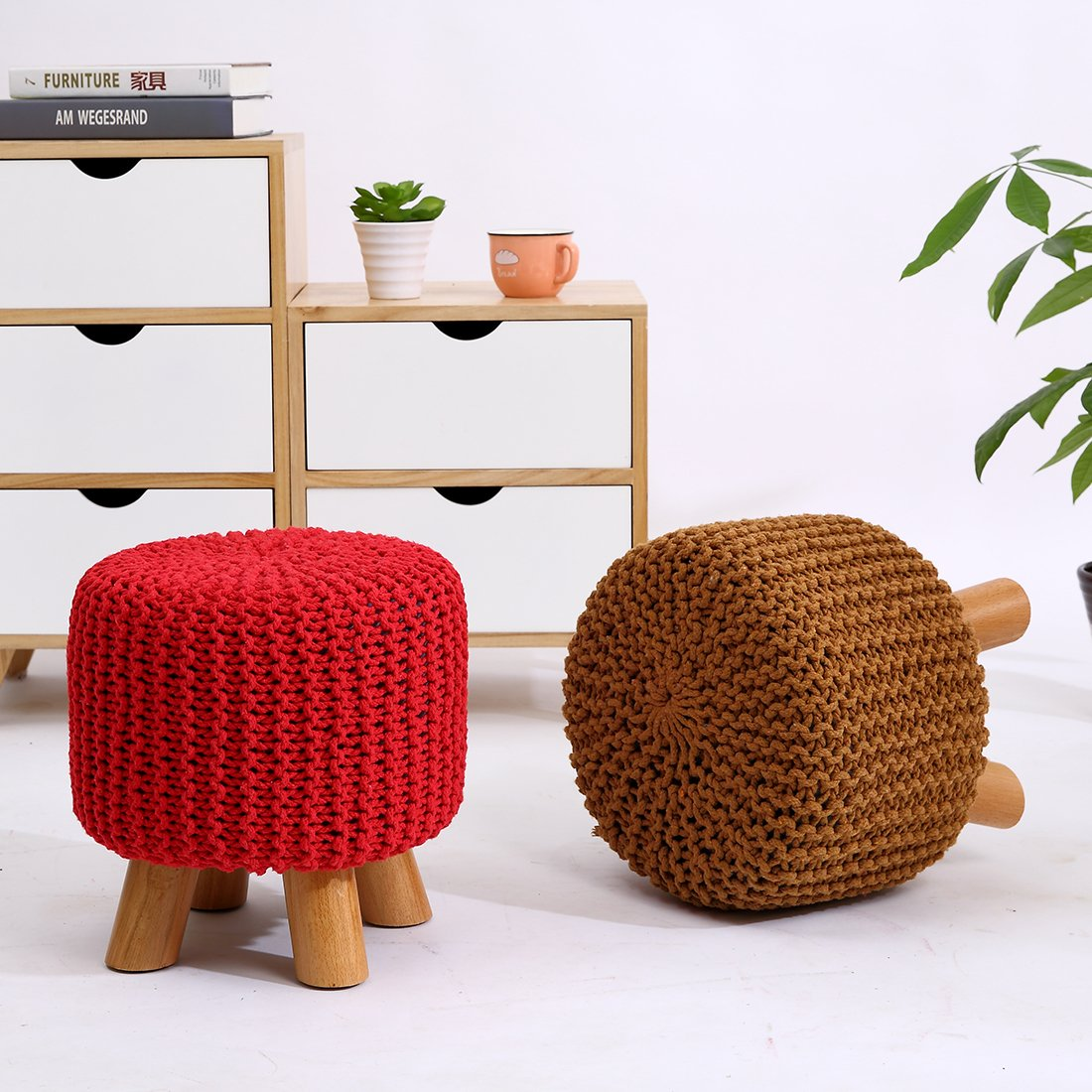 Fabulous Uusshop Wood Support Upholstered Footrest Footstool Ottoman Frankydiablos Diy Chair Ideas Frankydiabloscom