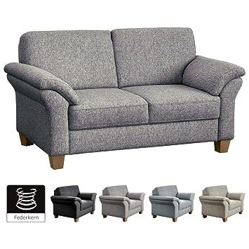 CAVADORE 2 Sitzer Byrum Im Landhausstil / Große Couch Mit Federkern / 156 X  87