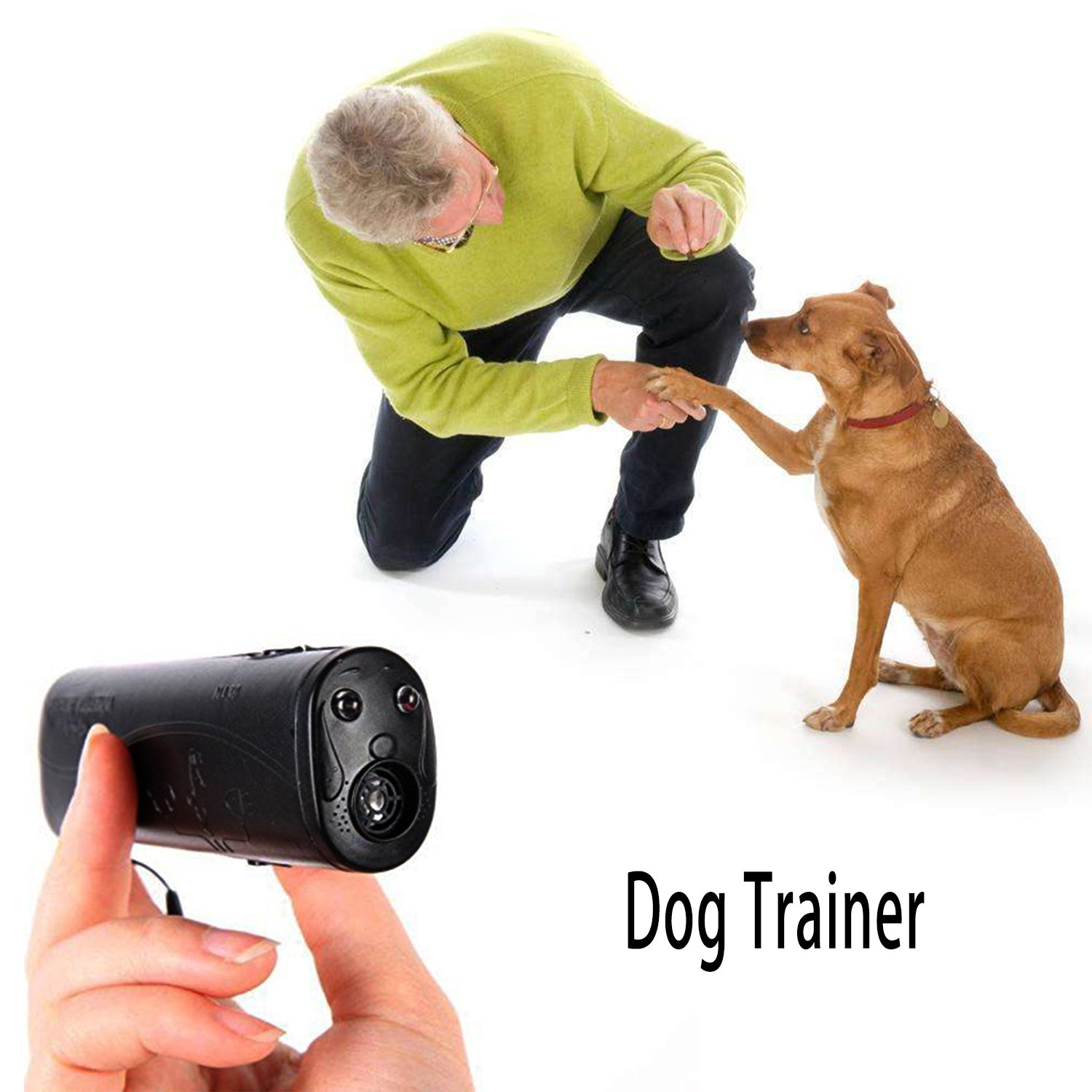 Wirsv Led Ultrasonic Dog Repeller 3 In 1 Pet Whistle Pc Related Power Supplies And Control Anti Bark Stop Barking Training Trainer Gray