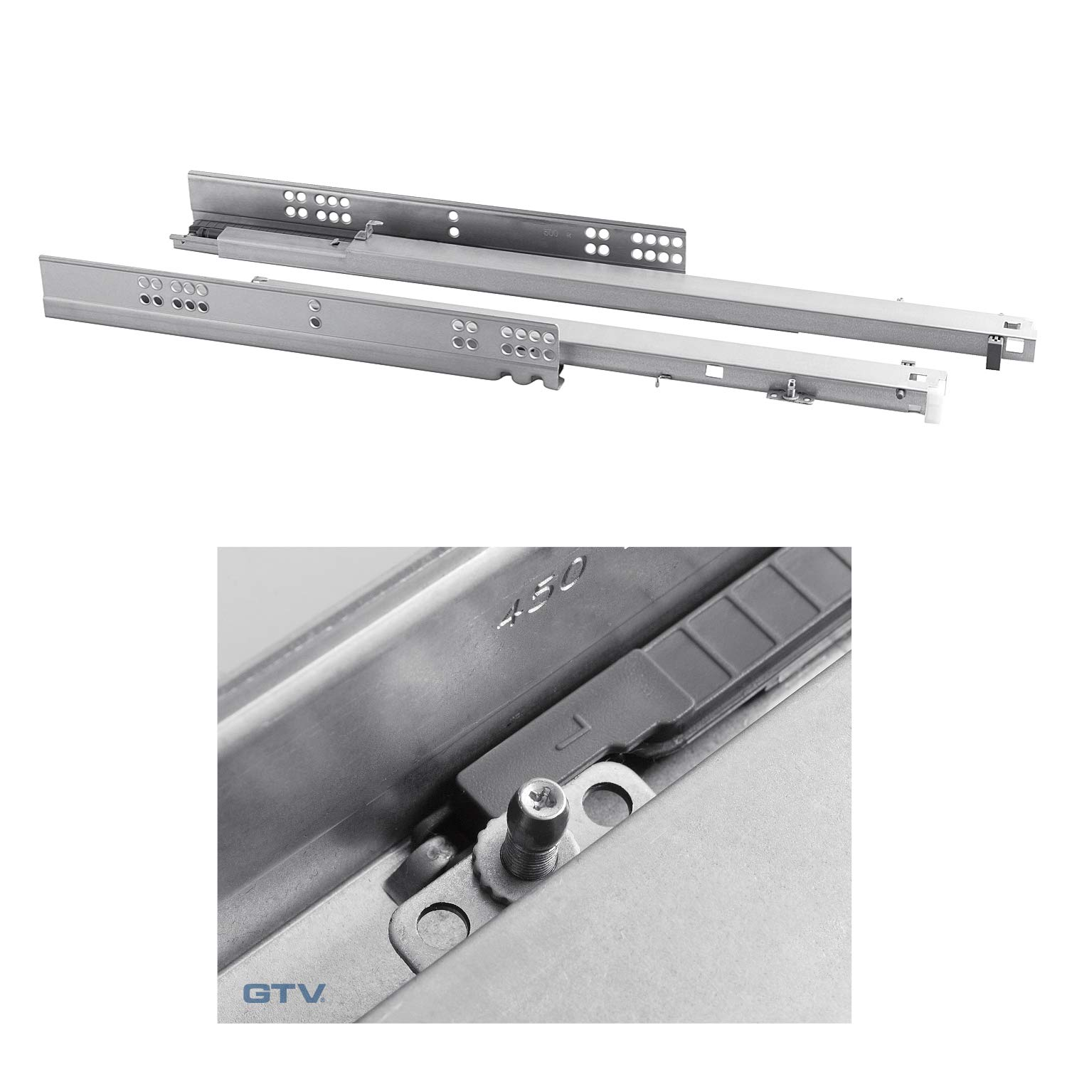 350-600mm full extension UK Invisible//Concealed Under Mounting Drawer Runners