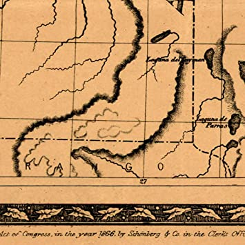 1866 Schönberg/'s Early Map of Texas Historic Map 22x28 Poster