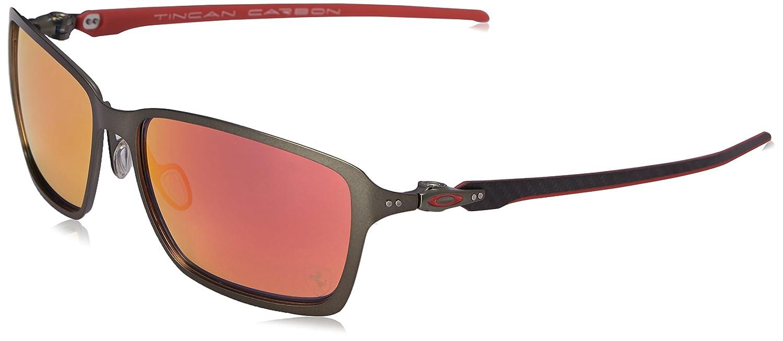 Oakley Men\'s Tincan Carbon OO6017-07 Iridium Rectangular Sunglasses ...