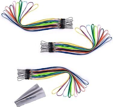 wisdompro 30 Pack 17 pulgadas de largo Colorido Lanzamiento rápido Cuello Cordones Correas Granel para llaves Llaveros / ID Nombre Etiqueta Titulares de la insignia: Amazon.es: Electrónica