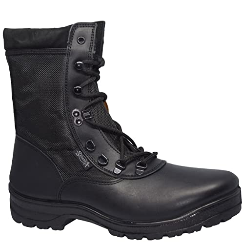 7000 Estepa Botas Negras de piel Ejército Combate Patrulla Táctica Cadete Militar Policía (42,