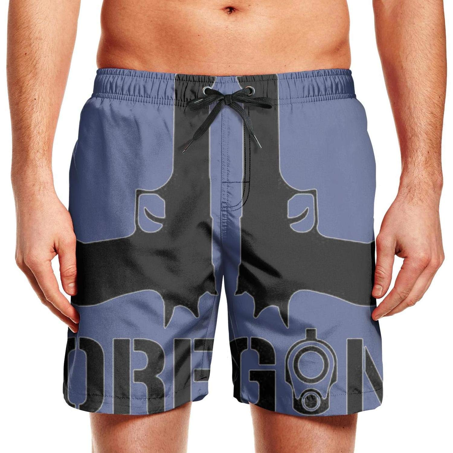 Oregon HA Mans Shorts Loose Quick Dry Summer Beach Trunks