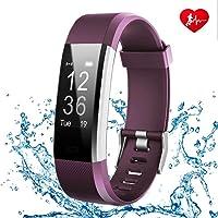 FONCBIEN Montre Connecté, Bracelet Connecté Femme Homme Bluetooth Sport Montre podometre Smart Watch Cardiofréquencemètre pour Android iOS Samsang Huawei