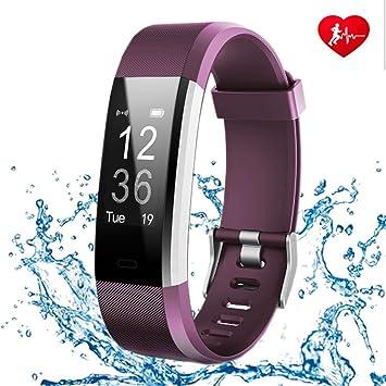 FONCBIEN Montre Connecté, Bracelet Connecté Femme Homme Bluetooth Sport Montre podometre Smart Watch Cardiofréquencemètre Android