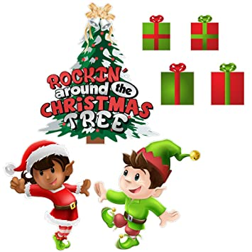 victorystore yard sign outdoor lawn decorations rockin around the christmas tree christmas lawn - Christmas Lawn Decorations Amazon