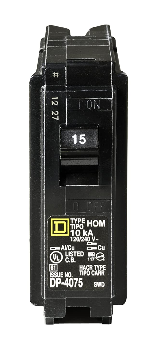 Square D by Schneider Electric HOM115CP Homeline 15 Amp Single-Pole ...
