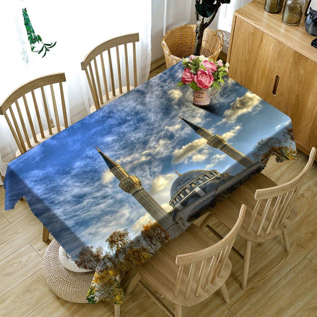 Ropa de Cocina Manteles rectangulares - 3D Landscape Series Tablecloth Vc26 - Respetuoso con el Medio Ambiente y sin Sabor - Impreso digitalmente a Prueba de Agua (Tamaño : Rectangular -228cmx396cm)