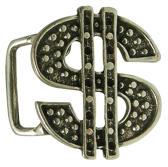 Fronhofer Boucle de ceinture avec le signe dollar, argentée, unisexe,  mixte, 2 d434d02fd86