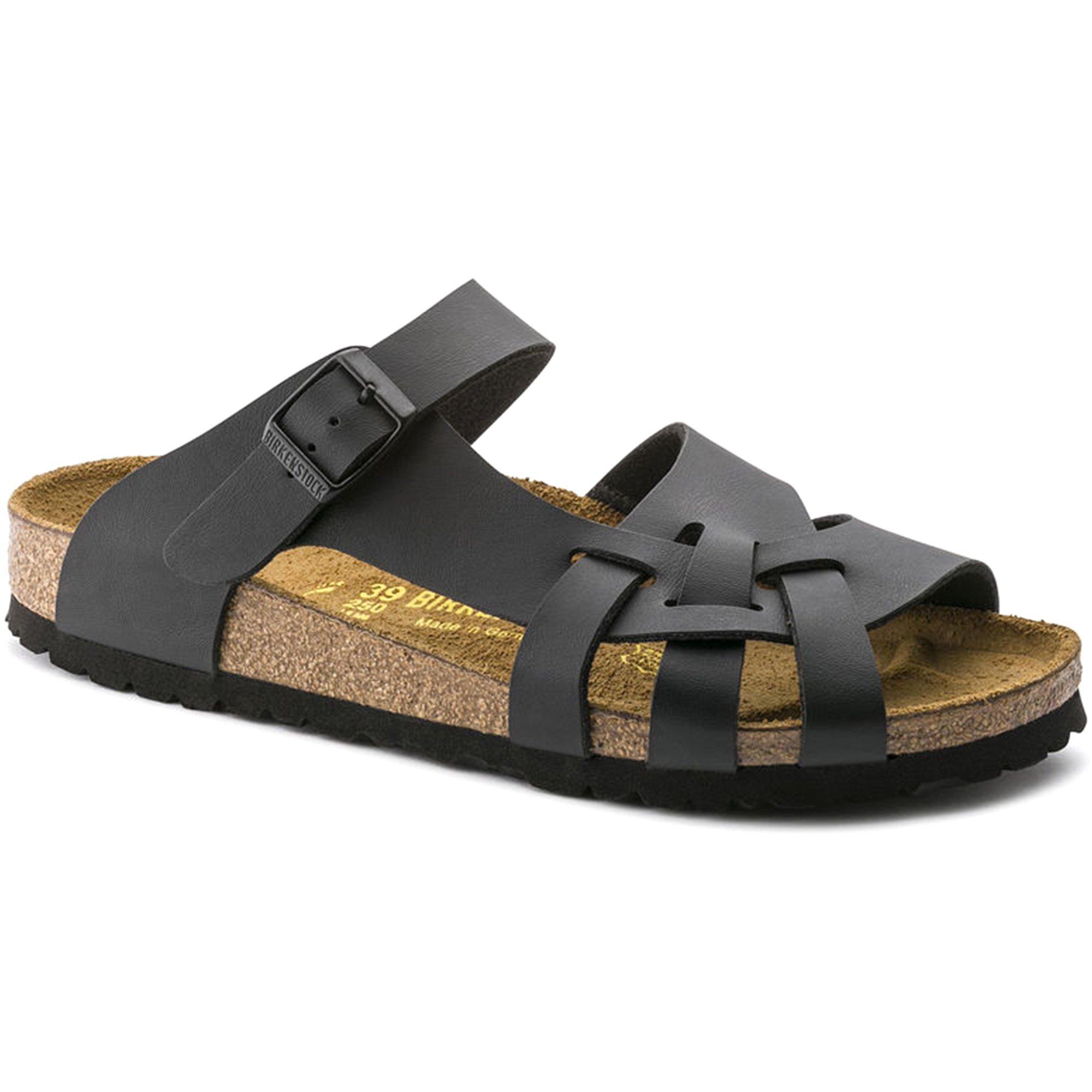 Birkenstock New Pisa Black Birko-Flor 38/7-7.5 N Womens Sandals