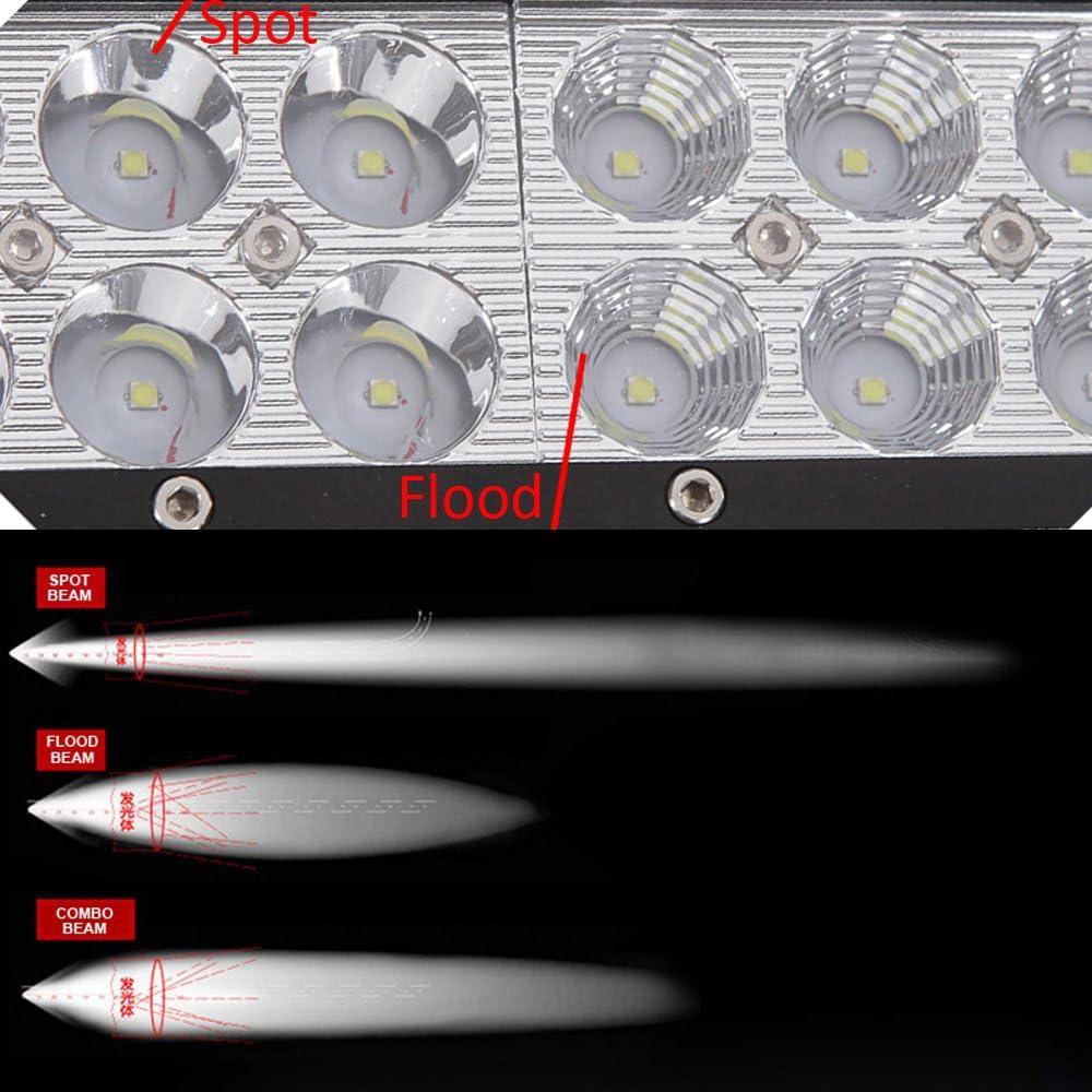 ecc. camion offroad barca AUXTINGS 2 x 17,8 cm 36 W luce di inondazione a LED bar per 4 x 4