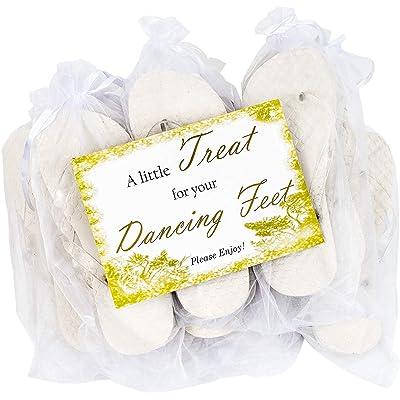 Modo White Heart Glitter Strap Flip Flop 10 Pack Bundle All in Organza Bags Ideal for Weddings | Flip-Flops