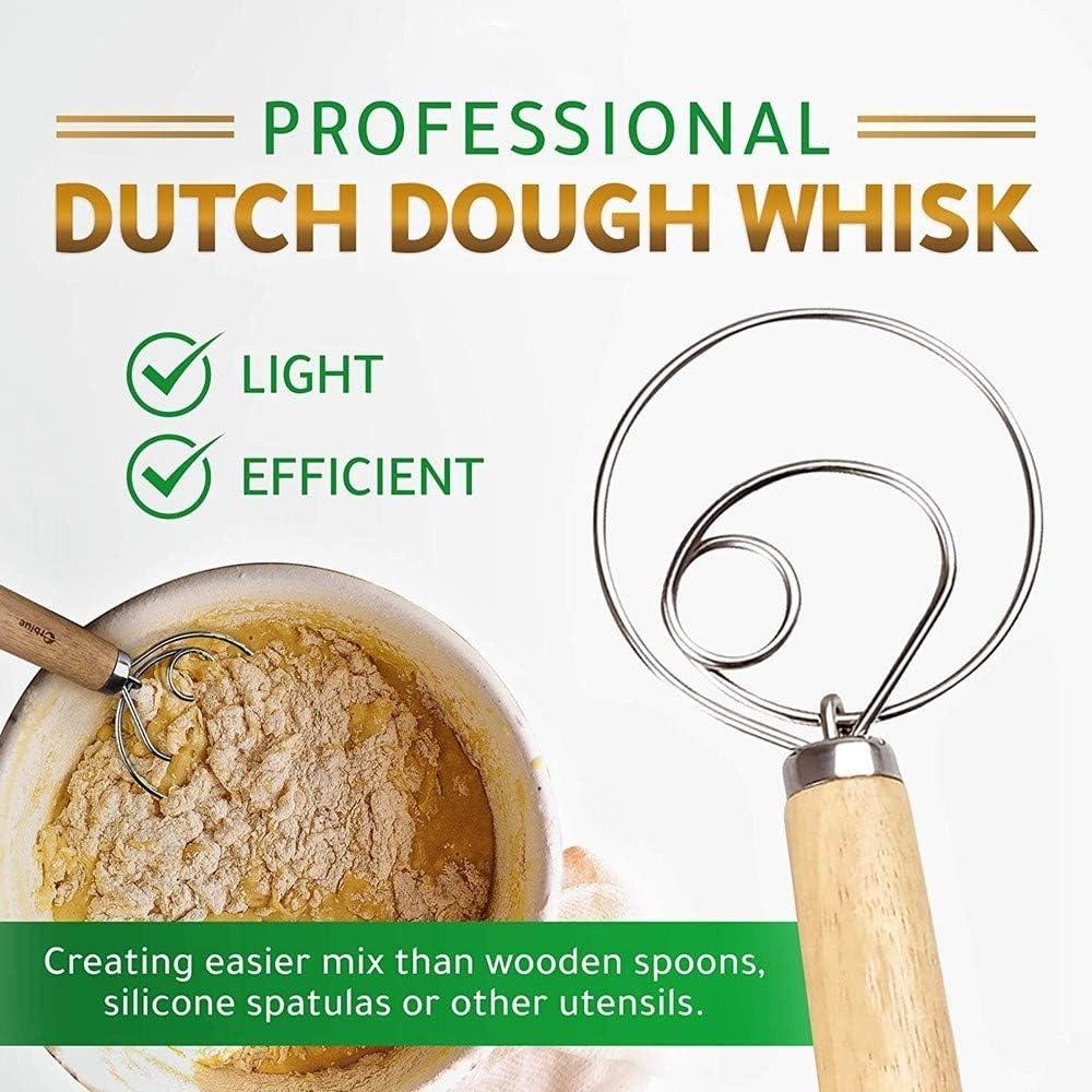 2 Pack Danish Dough Whisk Blender Baking Tools