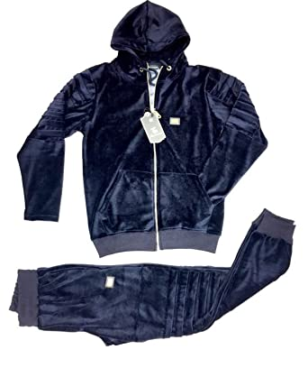 Hoodie Men S Designer Velour Tracksuit Time Is Money Navy Jog Pants Jacket Wvpd Org