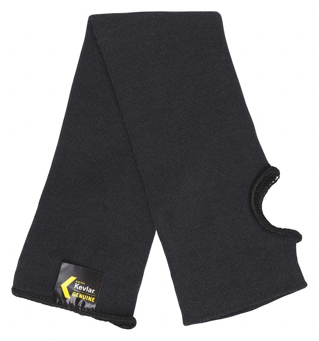 Kevlar Sleeve with Thumbhole, 18''L, Knitted Cuff, Black, Sleeve Size: Universal pack of 5 by MCR Safety (Image #1)