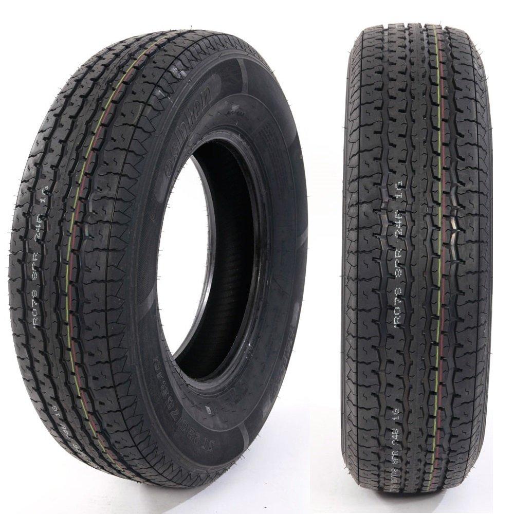 Set of 2 ST225/75R15 LRD T/L Camper, Radial Trailer Tires Load Range D 8 ply Trailer Tire 2257515 Autoforever