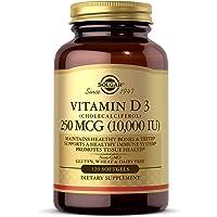 Vitamin D3 (Cholecalciferol) 10,000 IU, 120 Softgels