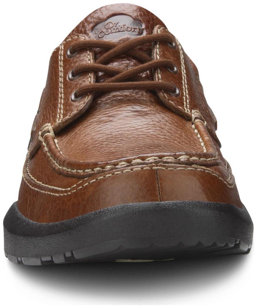 Dr. Comfort Patrick Men's Therapeutic Extra Depth Boat Shoe: Chestnut 12 X-Wide (3E/4E) Lace by Dr. Comfort (Image #7)