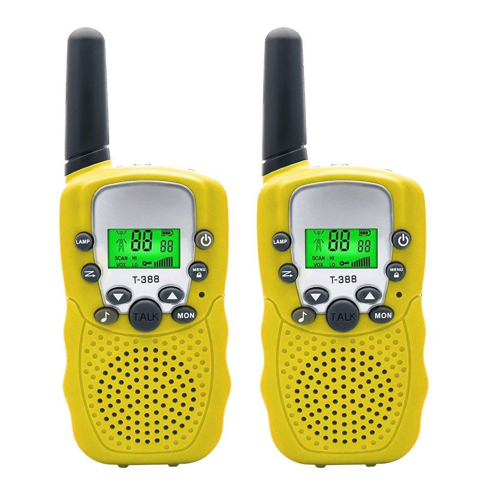 Walkie Talkies Speaker for Kids Up to 3 KM Long Range, 22 Channel 2 Way UHF Radios Walkie talkie Toy Intercom with Flashlight,Handfree Walky Talky Set for Toddlers Gifts Outdoor Adventures Camping