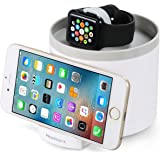 Charging Dock for Apple Watch, MixMart 3-USB Port Hub Charging Dock Station and Cords Organizer for Apple Watch, iPhone 7/7 Plus, 6 Plus/6s Plus, SE, Samsung S7 and Tablets (White)