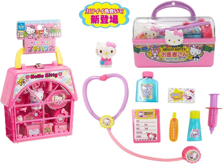 Best Japan Shopping 2 Productos Hello Kitty – Estuche Dr. con Suministros médicos y casa pequeña portátil (Importado de Japón): Amazon.es: Juguetes y juegos