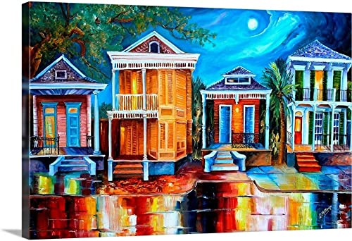 Moon Over New Orleans Canvas Wall Art Print