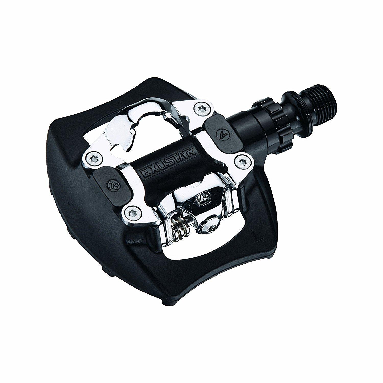 Exustar E-PM811 Mountain Bike Pedal Black/Silver 95x83mm [並行輸入品] B075JZ8ZFF