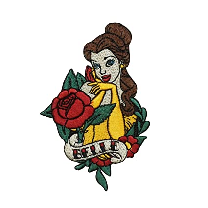 BELLE BEAUTY AND THE BEAST  Embroidered Iron Sew On Cloth Patch Badge  APPLIQUE