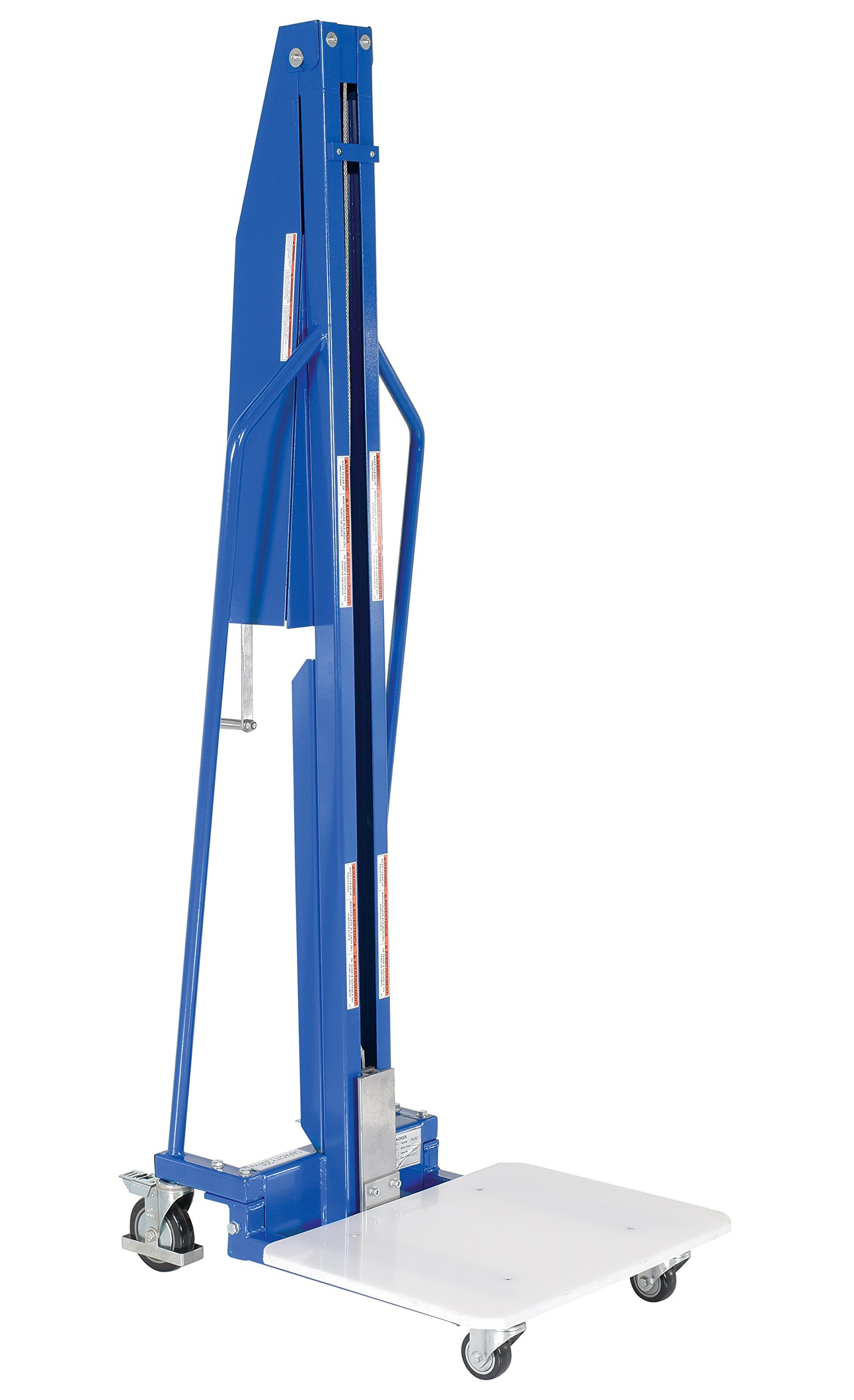 Vestil MWP-220 Lightweight Manual Work Positioner, 220 lbs Capacity, 23-1/2'' Length x 18-1/2'' Width Platform, 5-1/4''-59'' Height Range