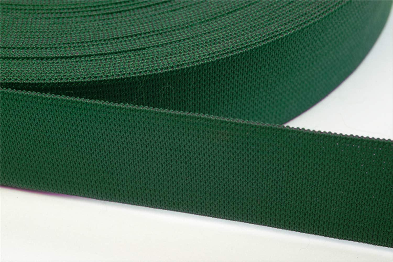 dunkelrot 40mm Jajasio 6 Meter Gummiband zum N/ähen in 20 Farben elastische Band f/ür Kleid Rock Hosen 07