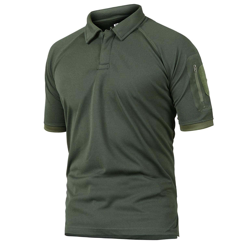 Rdruko Mens Short Sleeve Shirt Lightweight Quick Dry Cargo Tactical