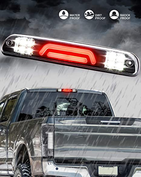 1993-2011 FORD Ranger SMOKED REAR THIRD 3RD BRAKE LIGHT CARGO LAMP 3D LED BAR FOR 1999-2016 FORD F-250 F-350 SUPER DUTY
