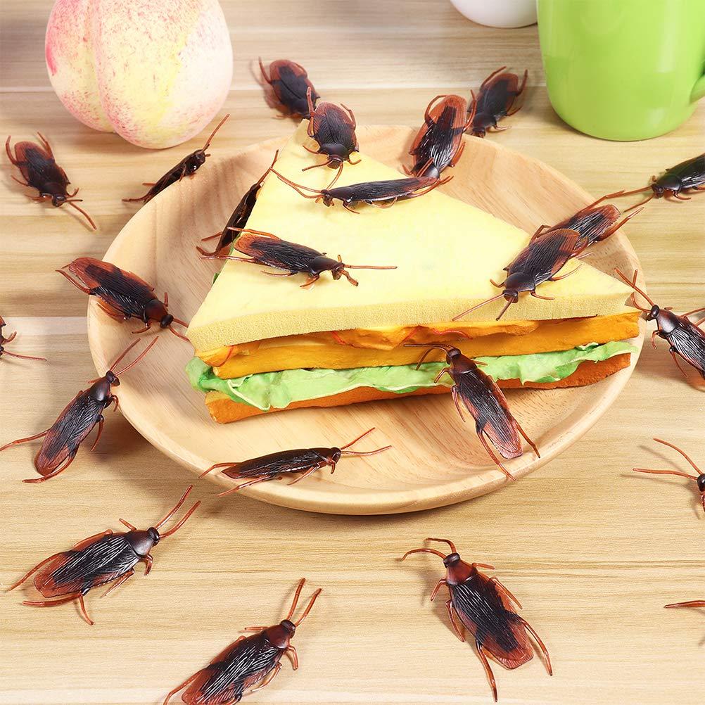 Confezione da 60 Toyvian Finto Scarafaggio plastica scarafaggi Bugs Prank novit/à Look Reale per Halloween