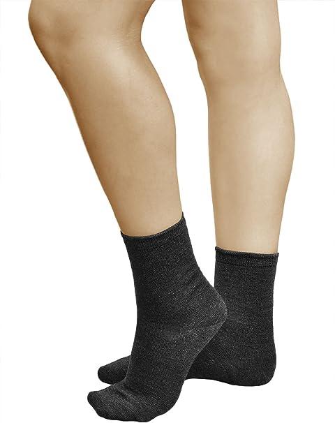 vitsocks Calcetines Lana MERINO 80% Calientes Mujer (3 PARES) Transpirables Suaves: Amazon.es: Ropa y accesorios