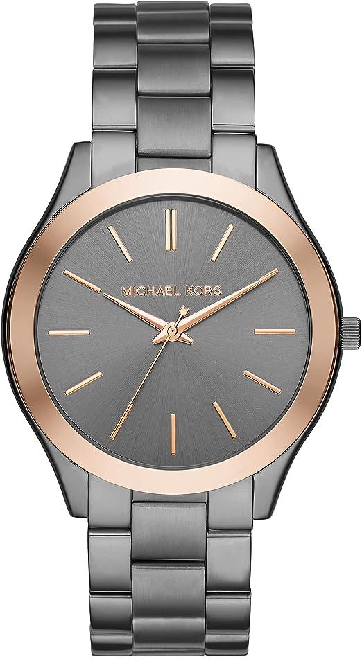 Amazon.com: Michael Kors Men's Analog-Quartz Watch with Stainless-Steel Strap, Grey, 22 (Model: MK8576): Watches