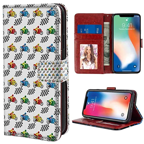 cheap for discount 12334 adc65 Amazon.com: Wallet Phone Case for iPhone X or iPhone 10 or iPhone Xs ...