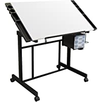 Studio Designs Deluxe Craft Station, Top Adjustable Drafting Table Craft Table Drawing Desk Hobby Table Writing Desk…