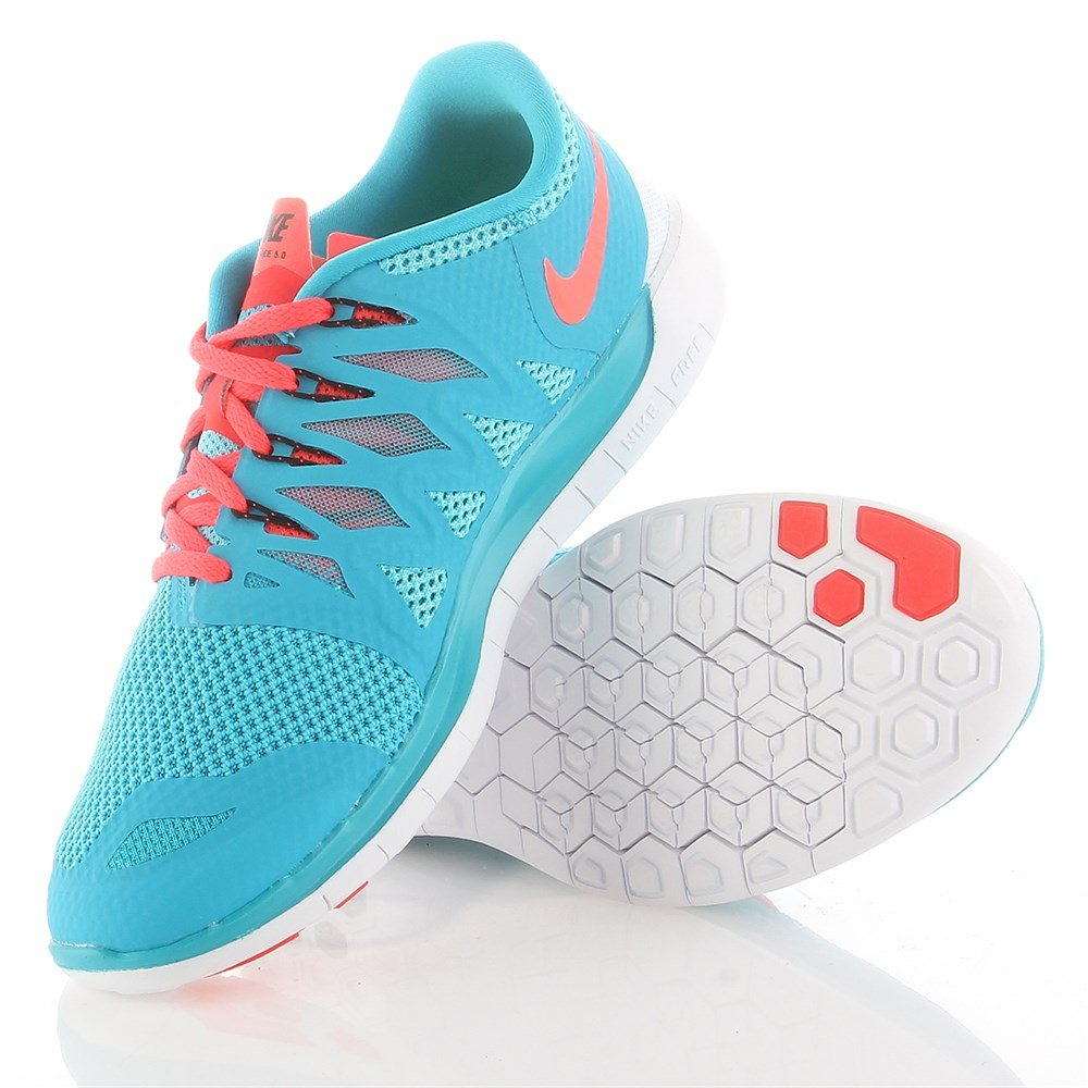 c2c54c6d8f22d Galleon - Nike Free 5.0+ Mens Running Shoes 642198-406 Blue Lagoon Clear  Water-Bright Crimson 9 M US